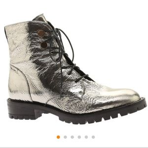 Kenneth Cole Pewter Francesca Boots